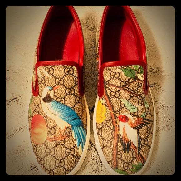 da4126a6b580 Gucci Dublin Tian GG Supreme Slip-On Sneaker